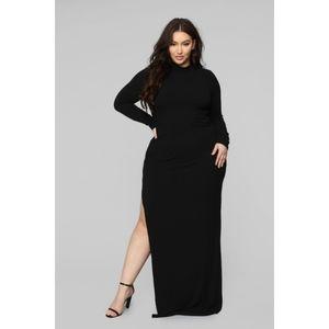 Fashion Nova Like It Or Leave It Ribbed Maxi Dress